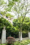 Villa. This photo was taken in Zhenzhu Fountain Scenic Area,Nanjing city,china.The photo was taken as 2015.5.13 Stock Images
