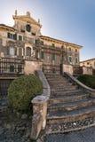 Villa Pignatti-Morano is a three-story seventeenth century villa. Custoza, Italy - March 11, 2017: Villa Pignatti-Morano is a three-story seventeenth century royalty free stock photo