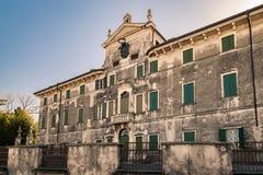 Villa Pignatti-Morano is a three-story seventeenth century villa. Custoza, Italy - March 11, 2017: Villa Pignatti-Morano is a three-story seventeenth century royalty free stock photography