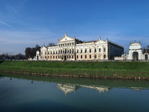 Villa Pisani in Stra Italy and the Brenta River. Royalty Free Stock Photography