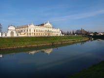 Villa Pisani in Stra Italy and the Brenta River. Royalty Free Stock Image
