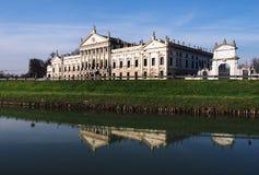 Villa Pisani in Stra Italy and the Brenta River. Stock Image