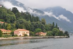 Villa pizzi at  lake como Italy Stock Photos