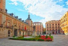 Villa Plaza de la Villa-家正方形Casa的de la Villa, t 库存图片