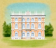 Villa Ponti. Illustration of Villa Ponti in italy Royalty Free Stock Image
