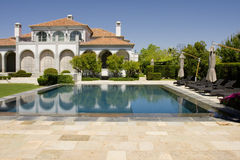 Villa with pool Royalty Free Stock Images