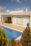 Villa with pool stock images