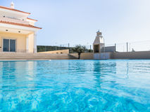 Villa and Pool Stock Images