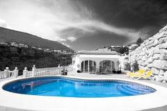 Villa and Pool Royalty Free Stock Image