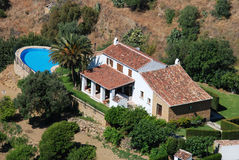 Villa with pool, Mijas. Royalty Free Stock Photography