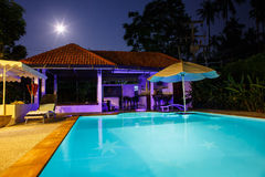 Villa with pool Stock Photography