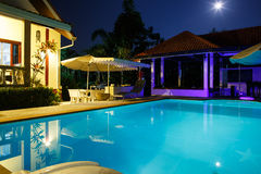 Villa with pool Royalty Free Stock Photo