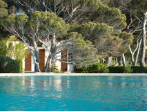 A villa and pool in St tropez, french riviera Stock Photography