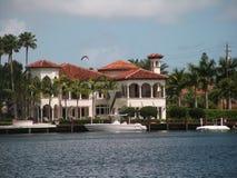 Villa privata di lusso Fotografia Stock Libera da Diritti