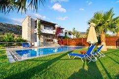 Villa with private pool Stock Photo