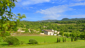 Villa in Provence. Scenic view of a villa in the green countryside of Provence, France Stock Image