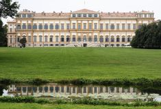 Villa Reale, Monza, Italy. Villa Reale 01/10/2017. Royal gardens and park of Monza. Palace, neoclassical building. Villa Reale Monza, Italy, great historic royal Royalty Free Stock Photos