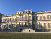Villa Reale, Monza, Italy. 01/15/2017. Royal gardens and park of Monza. Palace, neoclassical building Royalty Free Stock Image