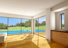 Villa rendering Royalty Free Stock Image