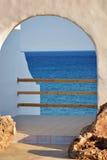 Villa in Rhodos Stock Afbeeldingen