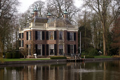 Villa by the river Vecht Stock Photography