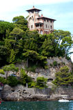 Villa on the rock. Portofino, Italy royalty free stock photography