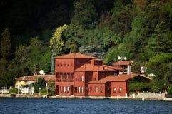 Villa rossa Fotografia Stock Libera da Diritti