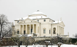 Villa Rotonda in snow Stock Image