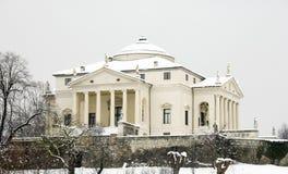 Villa Rotonda in snow Stock Image