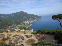 Villa Rufolo, Ravello, Amalfi Coast, Italy. The tyrrhenian sea from Villa Rufolo, Ravello, Amalfi Coast, Italy Royalty Free Stock Photo