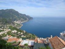 Villa Rufolo, Ravello, Amalfi Coast, Italy. The tyrrhenian sea from Villa Rufolo, Ravello, Amalfi Coast, Italy Royalty Free Stock Images