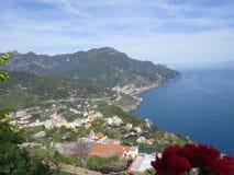 Villa Rufolo, Ravello, Amalfi Coast, Italy. The tyrrhenian sea from Villa Rufolo, Ravello, Amalfi Coast, Italy Stock Image