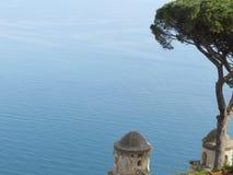 Villa Rufolo, Ravello, Amalfi Coast, Italy. The tyrrhenian sea from Villa Rufolo, Ravello, Amalfi Coast, Italy Royalty Free Stock Image