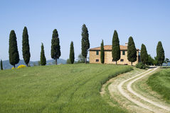Villa in rural landscape Royalty Free Stock Photo