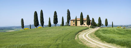 Villa in rural landscape Stock Photography