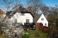 Villa's in Brønshøj Kopenhagen Stock Afbeeldingen