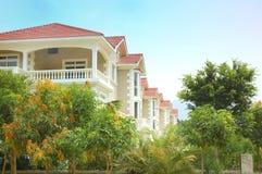 Villa's en boom Stock Fotografie