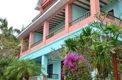 Villa's in tropische toevlucht Stock Foto's