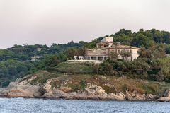 Villa Saint Tropez France. Villa in the mountains near the village Saint Tropez at the mediterranean sea in France stock images