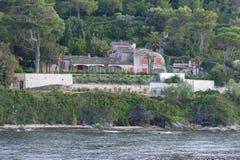 Villa Saint Tropez France. Villa in the mountains near the village Saint Tropez at the mediterranean sea in France stock photo