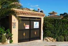 Villa for sale, Spain. Royalty Free Stock Photos