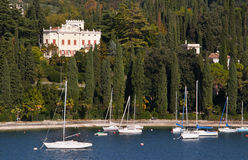 Villa at Salo on Lake Garda Italy Royalty Free Stock Photo