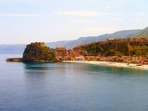 Villa San Giovanni, Italie de plage Image libre de droits
