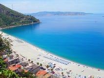 Villa San Giovanni, Italie de plage photo libre de droits