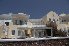 Villa on Santorini island Stock Photos