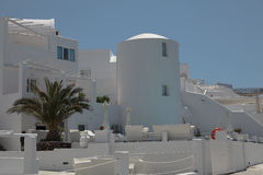 Villa on Santorini island Stock Photo