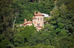 Villa Sassetti. Sintra, Portugal. The romantic view of Villa Sassetti hidden in the rich vegetation of wooded hills. Sintra, Portugal stock photo