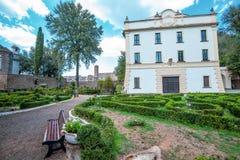 Villa Savorelli, début du 18ème siècle Sutri, Italie photographie stock libre de droits