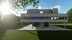 Villa Savoye, Poissy France - Le Corbusier Stock Footage - Video of ...
