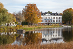 Villa in Schweden. Lizenzfreies Stockbild